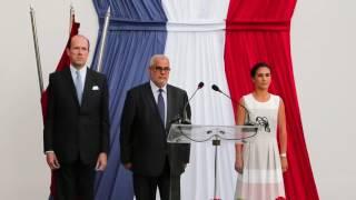 اغاني طرب MP3 نبيلة معان تؤدي النشيدين الوطنيين المغربي و الفرنسي بحضور بنكيران في السفارة الفرنسية تحميل MP3