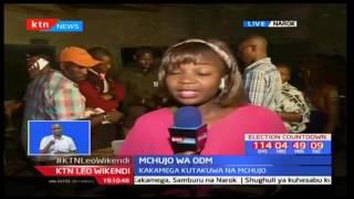 Wagombea wa useneta Ledama Ole Kina na Tom Sirere Maitai wangojea matokeo ya kura
