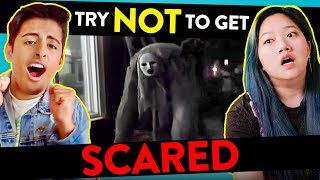 College Kids React To Try Not To Get Scared Challenge ft. Karan Brar