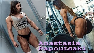 Anastasia Papoutsaki huge muscle girl | Greek Physique competitor
