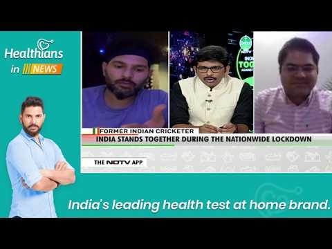 Healthians Founder Deepak Sahni & Yuvraj Singh on NDTV