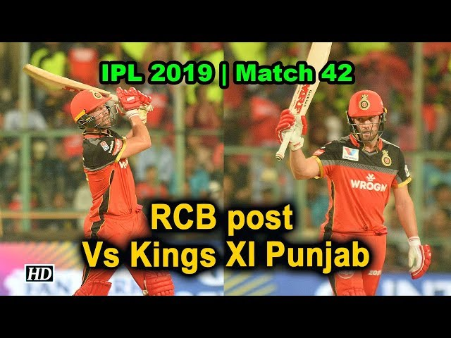 IPL 2019 | RCB post 202/4 Vs Kings XI Punjab
