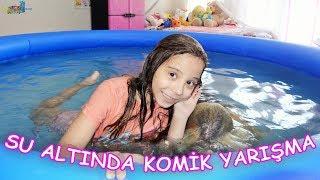 YÜZME HAVUZUNDA SU ALTINDA KOMİK YARIŞMA (Kim söylenenleri doğru anlayacak?) Eğlenceli Çocuk Videosu