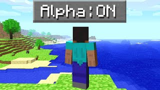 I Tried The First Ever Version Of Minecraft!