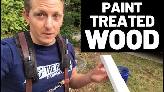 What to paint treated pine with