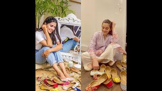 Khussa Lover || Pakistani Actresses Wear Khussa In Special Occasion || Best Desi Khussa Designs