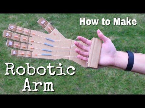 Roboter-Hand - So bastelst du sie aus Pappe und Zwirn