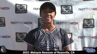 2022 Makayla Newsom Committed UCSB - Speedy Slapper and Outfield Softball Skills Video