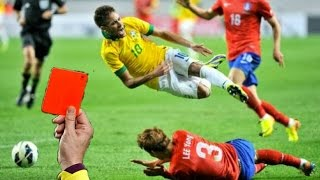 Neymar Jr - The Art of Diving ● Red Cards, Yellow Cards, penalties | HD