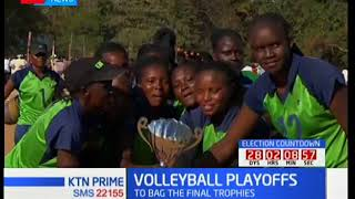 KCB women volleyball team bags trophy after beating Kenya Prisons in Makueni County