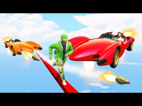 EXTREME RUNNERS vs. FLYING ROCKET CARS! (GTA 5 Funny Moments)