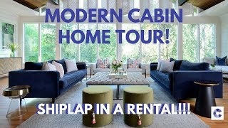 MODERN CABIN DECOR: TOUR MY LIVING, DINING, HOME OFFICE, ENTRYWAY!!!
