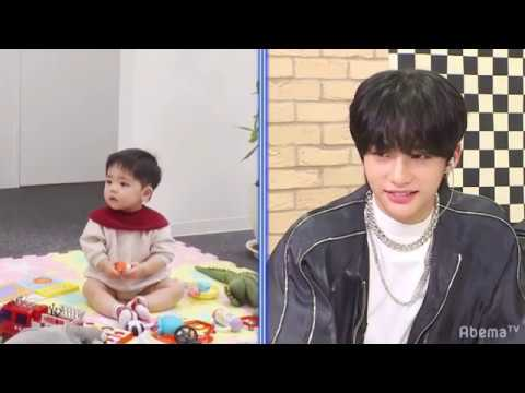Stray Kids playing with babies