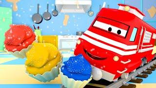 Vláčky pro děti Z Troye je Vlak Pečící Cupcaky!