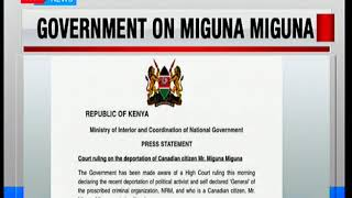 Government to appeal High Court's ruling terming Miguna Miguna's deportation as illegal