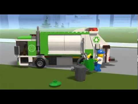 Vidéo LEGO City 4432 : Le camion-poubelle