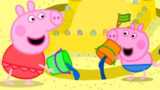 Peppa Pig Official Channel   Peppa Pig Makes the Best Sand Castle