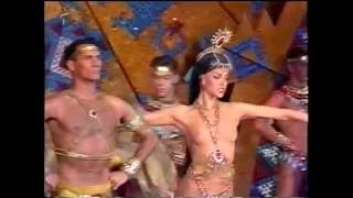 Lido Paris Bravissimo 1990 Aztecs Scene (TV S-VHS Recording)