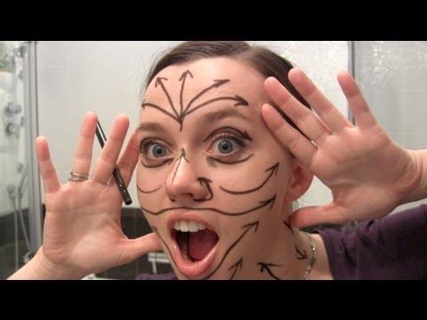 Очень важно! Массажные линии на лице / Face makeup lines