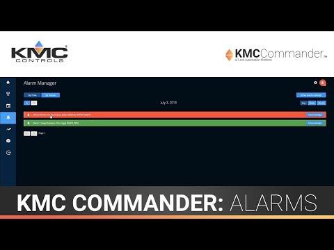 KMC Commander: Alarms