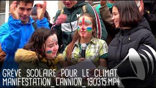 « L'HUMANITÉ COURT À SA PERTE » : APPEL À LA GRÉVE POUR LE CLIMAT / Lannion - 15 mars 2019