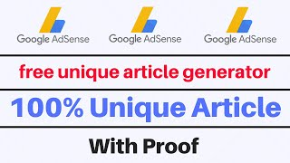 free unique article generator online | how to write no copyright article