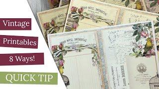 Vintage Printables 8 Ways!!