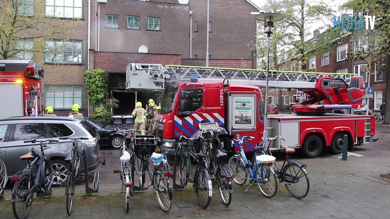 Gewonde na uitslaande brand in schoonheidssalon Rotterdam-Noord