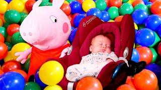 Peppa Wutz und ihre Baby Born Puppe - Mamas Schule - Guten Morgen