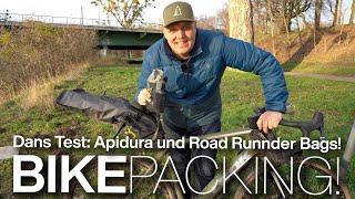 Dans Apidura und Road Runner Bags Bikepacking-Taschen am Look E-765 E-Gravelbike