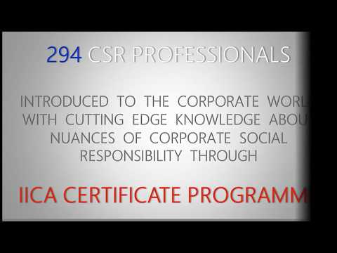IICA Certificate Programme in Corporate Social Responsibility (ICP ...