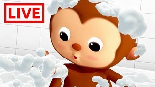 Little Baby Bum - Live 🔴| BATH SONG | Nursery Rhymes for Babies | ABC Songs and More Live Stream