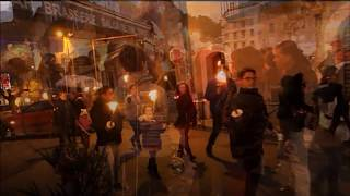 Retraite aux flambeaux à Anduze