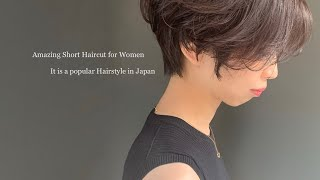 Amazing Short Haircut For Women  It Is A Popular Hairstyle In Japan /大人気のショートカット/