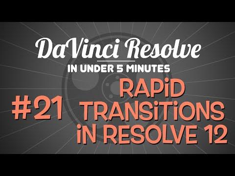 DaVinci Resolve in Under 5 Minutes: Rapid Transitions in Resolve 12
