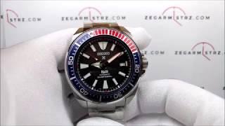Jam Tangan Pria SRPB99 Seiko Prospex SRPB99K1 Samurai PADI Black Pattern Dial