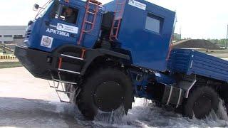 КАМАЗ-Арктика. Технические характеристики, подробный рассказ о вездеходе, показ жилого модуля внутри
