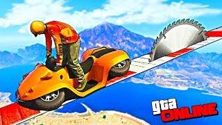 БЕЗУМНЫЙ СПУСК ОТ ЖЕСТКОЙ ПИЛЫ НА ВОДНОМ СКУТЕРЕ! GTA 5 ONLINE (ГОНКИ ГТА 5)