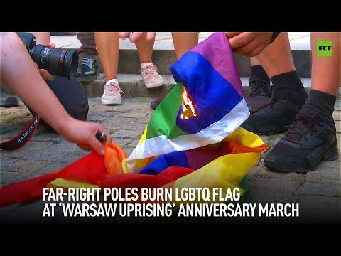Polish nationalists burned LGBTQ flag at Warsaw Uprising anniversary march