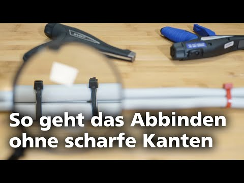 Kabelbinderzange EVO7: Wie Kabelbinder kantenfrei abschneiden? FAQ (DE)
