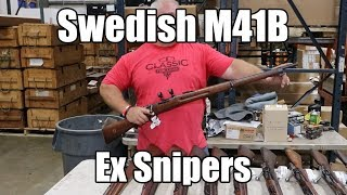 Swedish M41B Ex Sniper by Carl Gustaf, 6.5x55 , 5 Rd Bolt Action, Drilled and Tapped for Mount - Closeout