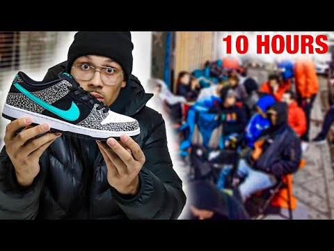 Camping Outside For Nike SB Dunk Low ATMOS