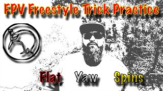 FPV Freestyle [Trick Practice] Flat Yaw Spins