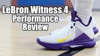Nike LeBron Witness 4 Performance Review