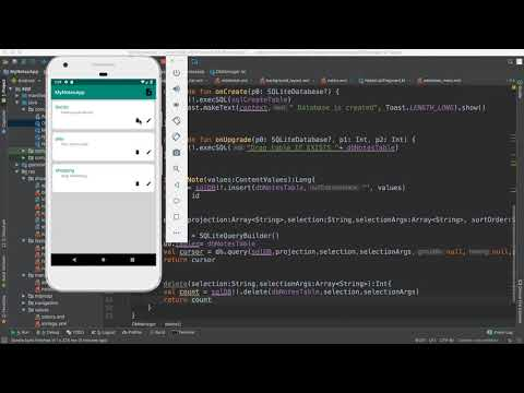 77- Android Note App||   Delete SQLite record-  حذف سجل