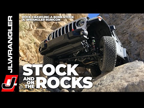 JL JOURNAL : Jeep JL Wrangler Off Road Rock Crawling Bone Stock On The Last Chance Canyon Trail
