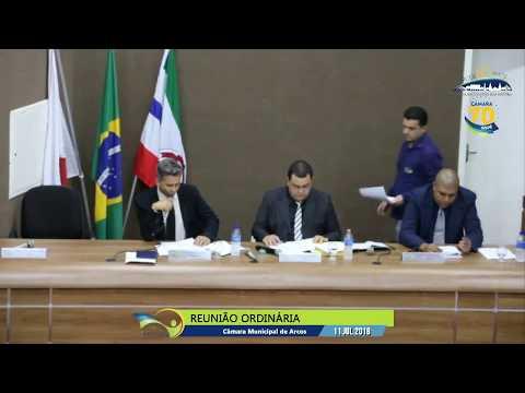 Reunião Ordinária (11/07/2018) - Câmara de Arcos