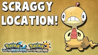 Where to Catch Scraggy (#335) in Pokemon Ultra Sun and Ultra Moon Location
