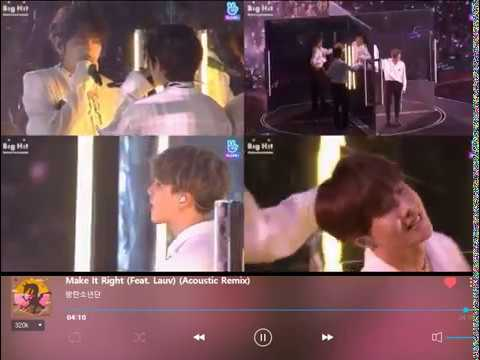 BTS Make It Right (Feat. Lauv) (Acoustic & EDM Remix) 방탄소년단 리믹스버전