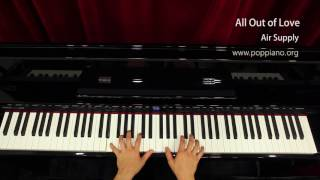 琴譜♫ All Out of Love - Air Supply (piano) instrumental / play by ear
